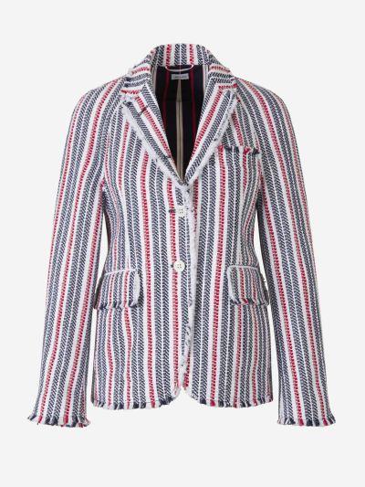 Raglan Sleeve Tweed Blazer