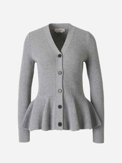 Wool Ruffles Cardigan