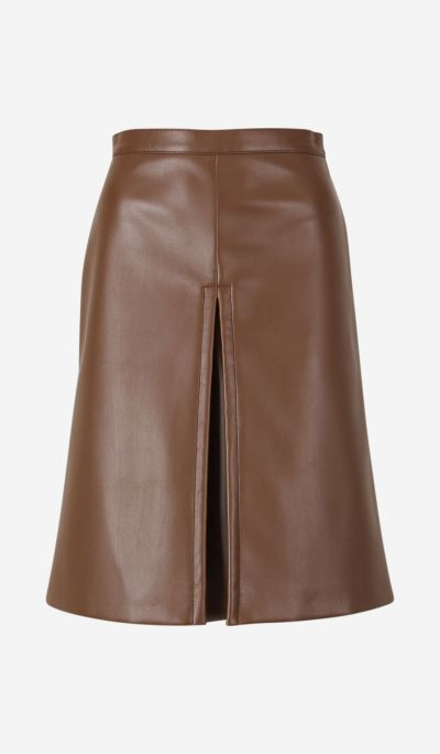 Synthetic leather skirt