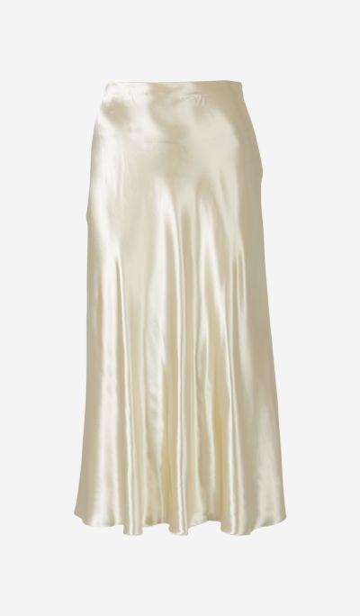 Satin Bias-curt Skirt