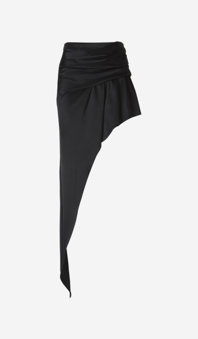 Asymmetrical Draped Shorts