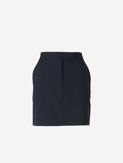 Short Striped Wool Skirt