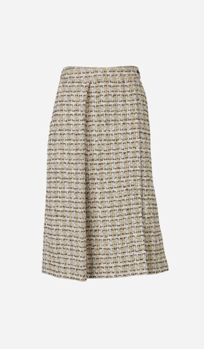 Midi Skirt with Tweed Texture