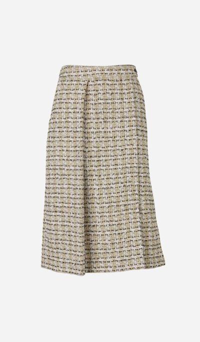 Falda Midi Textura Tweed