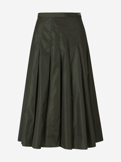 Nylon Pleated Skirt