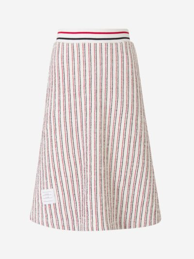 Striped Textured Skirt