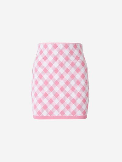 Fitted Checked Skirt