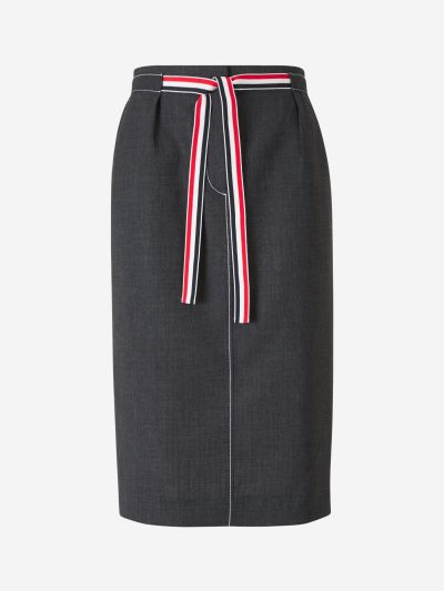 Bow Wool Widi Skirt