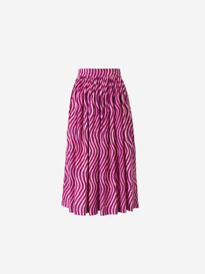 Striped Poplin Skirt