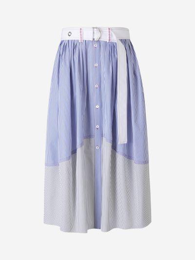 Striped Poplin Skirt