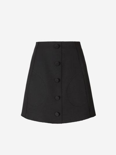 Mini Buttons Skirt