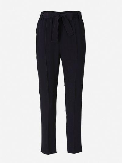 Pantalones Cintura Elástica Crepé