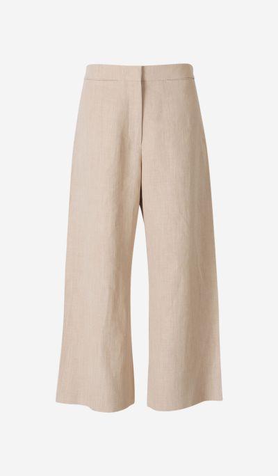 Pantalones Culotte Lino
