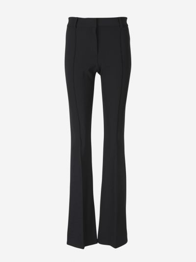 Flared knitted trousers