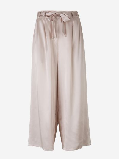Wide Silk Pants