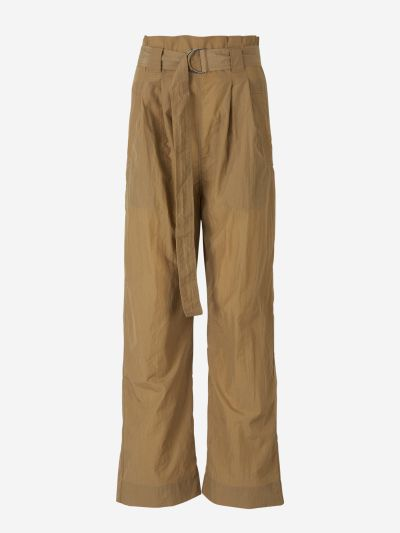 Tech paperbag trousers