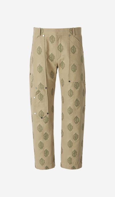 Pantalones Algodón Jacquard