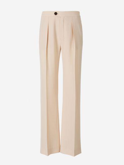 Crepe Pintuck Trousers
