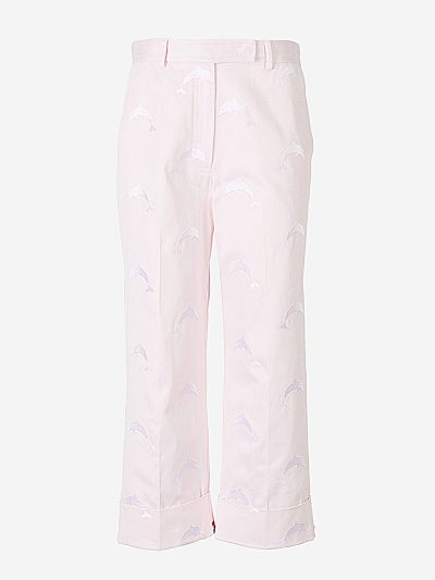 Embroidered Dolphin Trousers