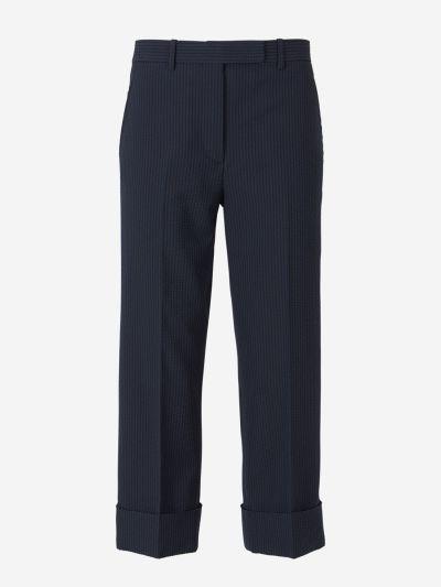 Seersucker Capri Pants