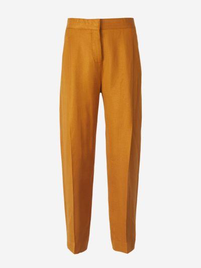 Pantalones Pliegues Delantero