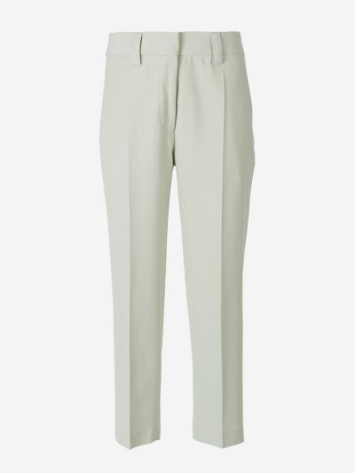 Wool blend Trousers.