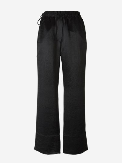Satin Elastic Waist Trousers
