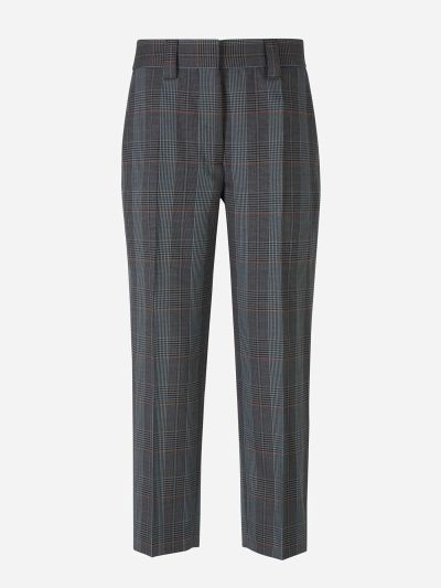Checked Capri Pants