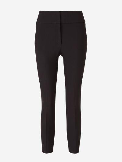 Elastic Waist Cropped Pants