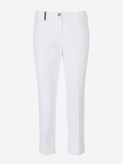 Textured Cotton Pants