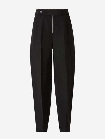 Ankle Darts Silk Pants