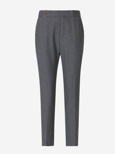 Slim Viscose Trousers