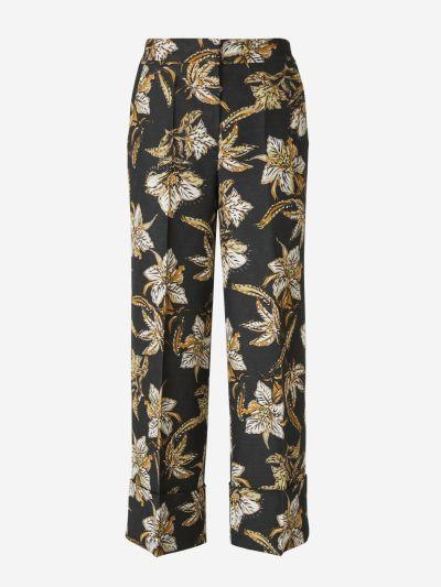 Pantalons Culotte Florals