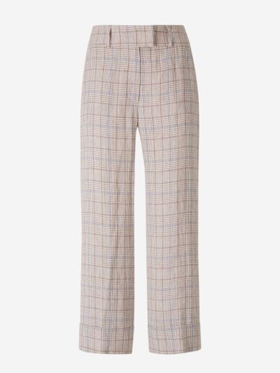 Cropped Prince of Wales Pants