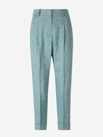 Darted Linen Pants