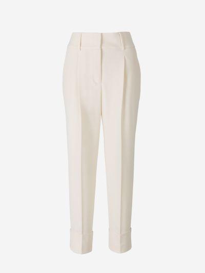 Darted Wool Pants