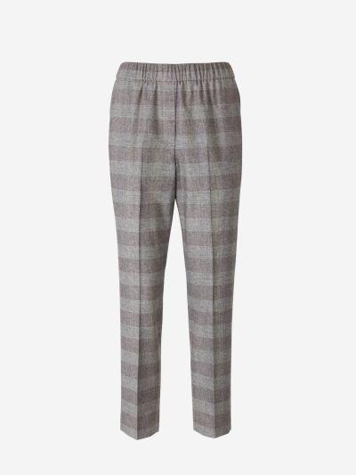 Checked Capri Pants