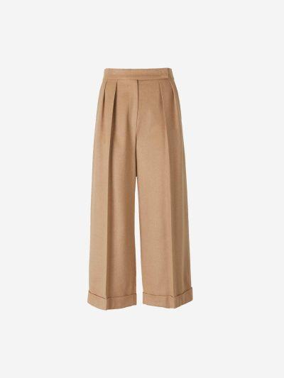 Straight Fur Pants