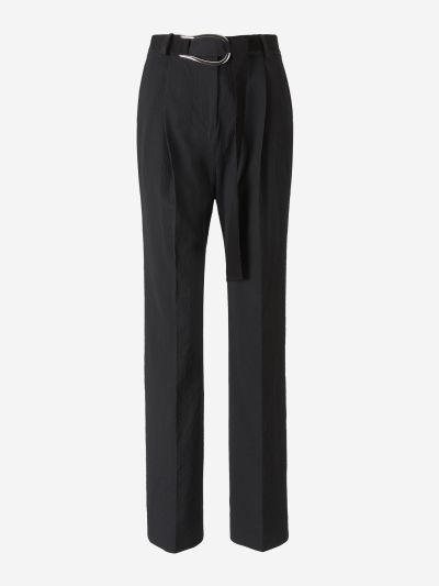 Seersucker Textured Pants