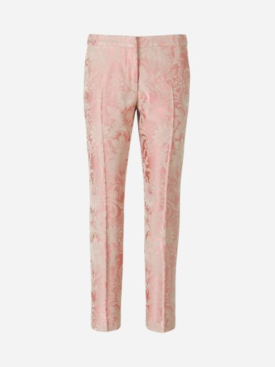 Cotton Jacquard Pants