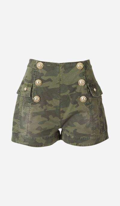 Camouflage Button Shorts