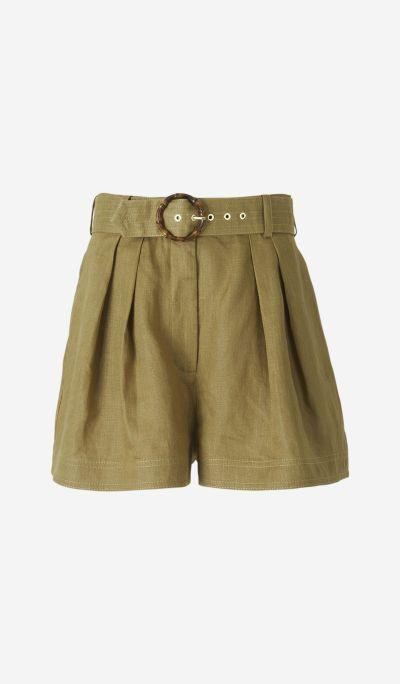 Shorts Lino Hebilla Bambú