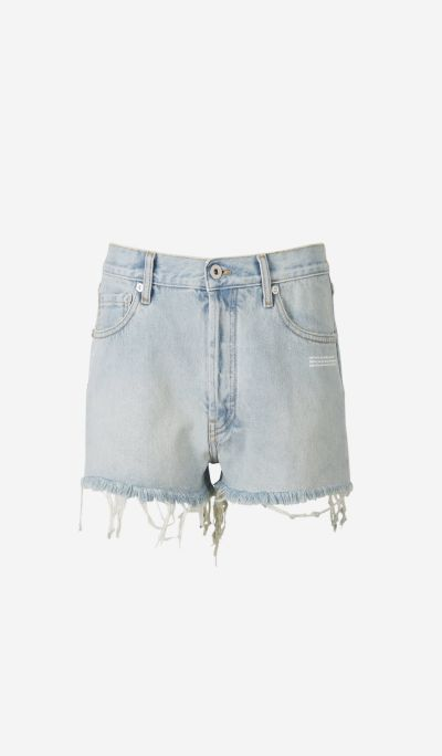 Denim Bleach Shorts