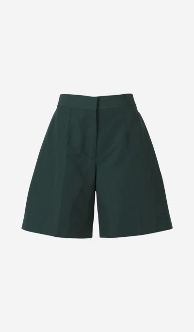 Linen and Cotton Taffeta Shorts