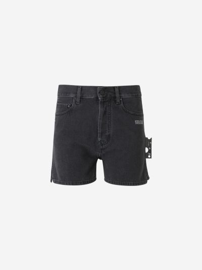 Shorts Denim Aberturas Laterales
