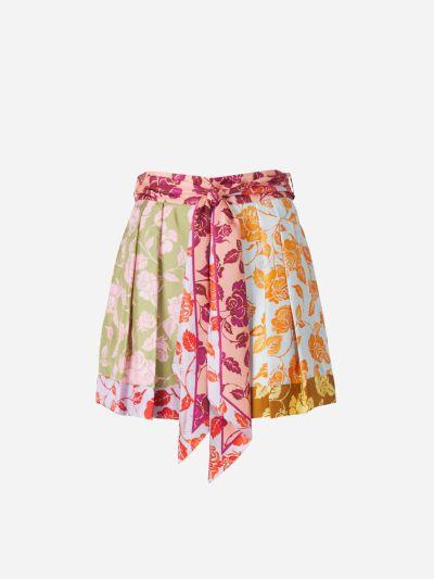 Shorts Seda Estampado Floral