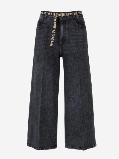 Jeans Wide Leg Logo