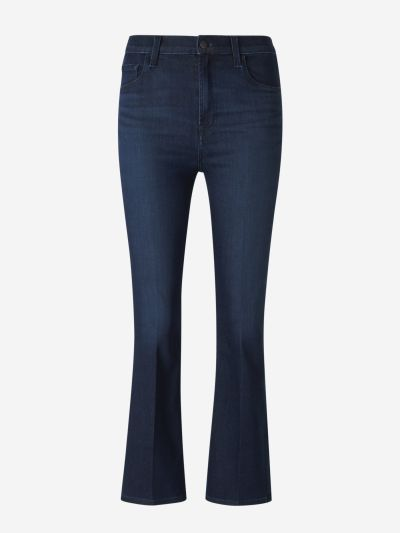 Jeans High-Rise Cropped Bootcut