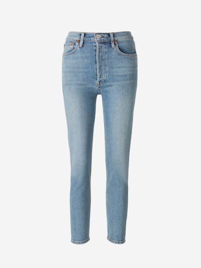 Jeans Cropped Algodón