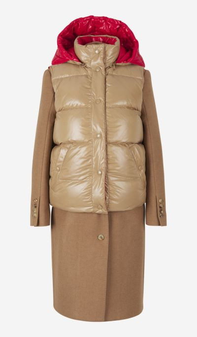 Coat with removable padded vest